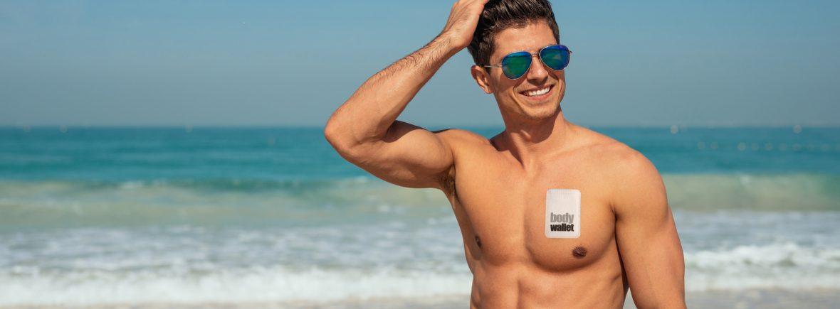 beach boy with bodywallet